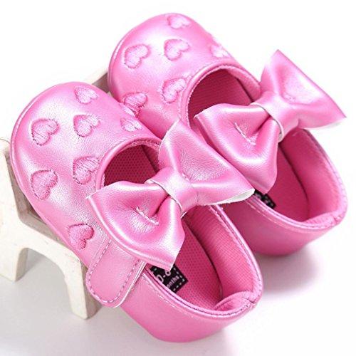 Bebê Suaves Sneakers Sapatos Bowknot Lazer Bonito Xmansky Únicos Criança Princesa Rosa fnFq66xwg