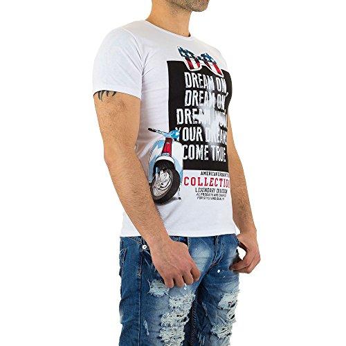Gemustertes T-Shirt Für Herren bei Ital-Design Weiß