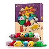 36 pezzi 5 cm Giochi Gatto Topolini Giocattoli per Gatti sonaglio peloso piccolo Topi Giochi interattivi per Gatto Gattini Colori Assortiti