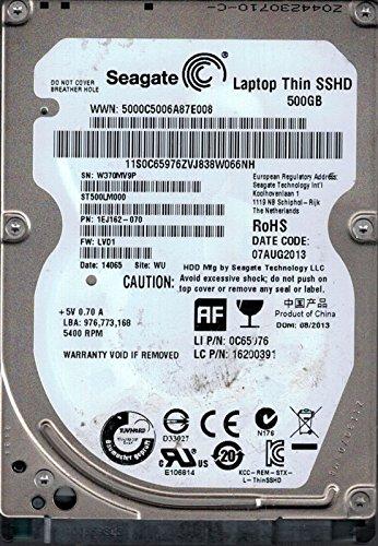 Seagate ST500LM000SSD Hybrid P/N: 1ej162–070F/W: LVD1WU 37