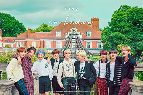 STRAY KIDS - First Photobook Stay in London 325p Photobook+Making DVD+9Postcards+On Pack Poster+3Photocards+Paper Holder+Pre-Order Benefit+Extra Double Side Photocards Set