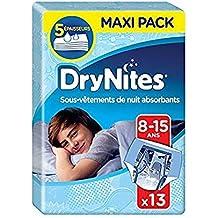 Huggies DryNites - Ropa interios de pijama para niños de 8-15 años, 27 - 57 kg, 13 unidades