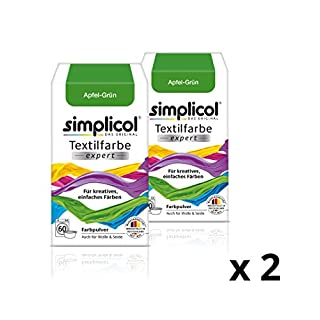 Simplicol expert fabric paint for washing machine or manual colouring: Tie Dye, Recolour, and Restore Your Fabrics and Clothes - Apple Green