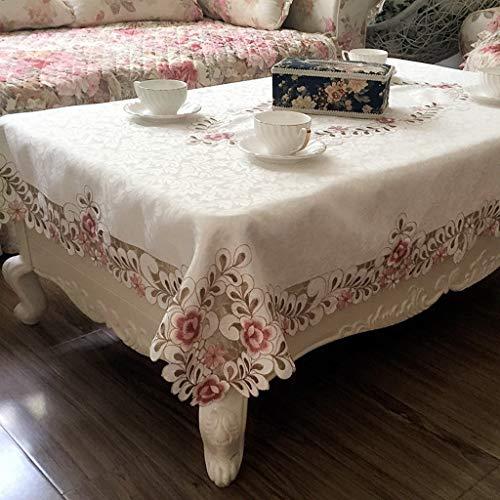 NNPE (TLMT) Tuch Tuch Garten Rechteckiger Kleiner Tisch Frischer runder quadratischer Tisch Floral Anti-Hot Tischtuch High-End-Tisch Continental (Size : 150 * 220cm) -