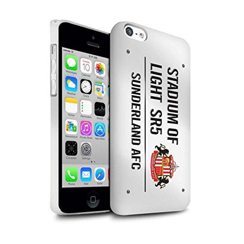 Offiziell Sunderland AFC Hülle / Matte Snap-On Case für Apple iPhone 5C / Pack 6pcs Muster / SAFC Stadium of Light Zeichen Kollektion Weiß/Schwarz