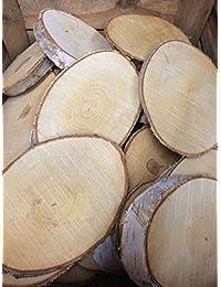 Tabla de la boda logaritmo natural de la rebanada de abedul corteza de árbol de la decoración de la pieza central 15-22cms