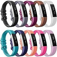 SnowCinda Armband Fur Fitbit Alta HR und Fitbit Alta, Verstellbares Karo Koper Ersatzarmband Wristband Silikonarmband Fitness Zubehorteil mit Metallschliese
