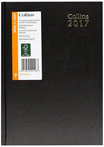 Collins Agenda Settimanale 2017, Formato A5, Colore Nero