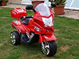 Kindermotorrad 6 Volt XXL 1,12 Meter !!! Kinderauto YLO rot Kinderauto Kinderfahzeuge
