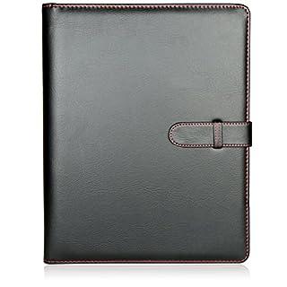 H&S 40 Pockets A4 Presentation Folder Ring Binder Document File Folder Display Book Portfolio Professional Conference Folder Faux Leather