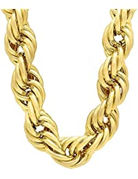 24 Carat Gold Black Rhodium and Gold Plated Brass Chain for Men AUGUST1051
