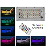 MLD Decorative 50W LED Flood Lights RGB Floodlights Waterproof Outdoor Lights(NEW550IE) with Remote