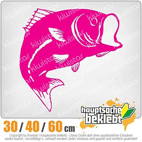 hauptsachebeklebt KIWISTAR - Fisch Lachs Karpfen Heckscheibe in 15 Farben Aufkleber Sticker - Fisch-aufkleber Heckscheibe
