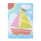 Healifty Mosaik Kinder Basteln Bilder, Segelboot Muster