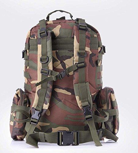 Arrampicata multifunzionale borsa zaino tattico militare gli appassionati di outdoor confezione bulk maschile borsa da viaggio , jungle number jungle camouflage