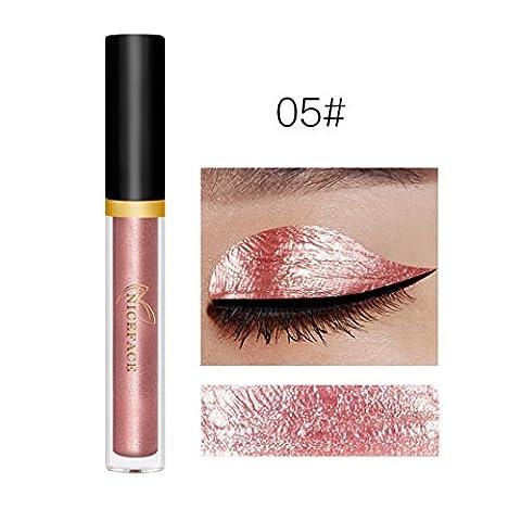 Sisit Forme Métallique Smokey Eyes Ombre à paupières Waterproof Glitter Liquid Eyeliner & Eyeshadow Pen