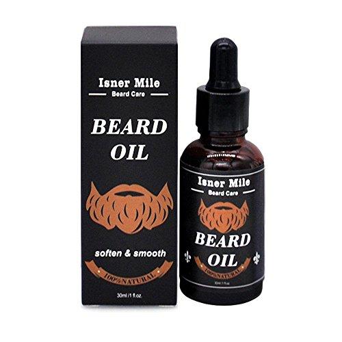 L'Huile D'ARGAN pour la barbe de la croissance et antichute, Pawaca 100% pur Naturel Huile de barbe Bio pour homme avec ingrédients Treat hydratant la peau et les cheveux Follicules – sans parfum, 28,3 gram