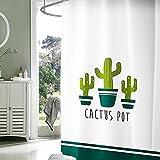 PEVA Duschvorhang Badvorhänge Wasserdicht und anti -Schimmel Kaktus Digital Gedruckt Badezimmer Vorhänge Duschvorhang 72*72 inch