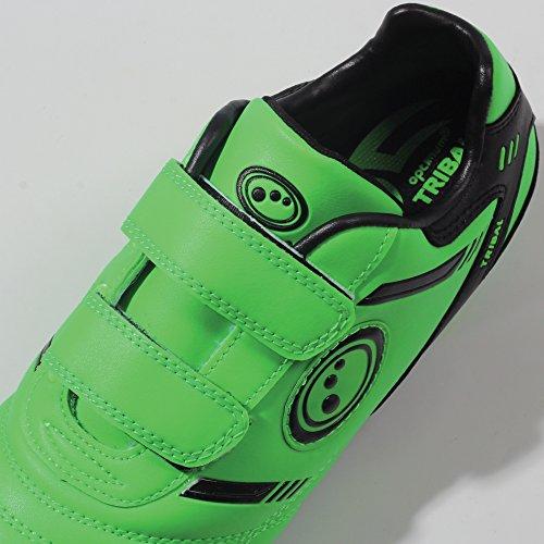 Optimum  Tribal - Velcro Moulded Stud, Chaussures de Football Garçons Vert - Green (Fluro Green/Black)