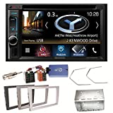Kenwood DNX-4180BTS Navigation Naviceiver Bluetooth CarPlay USB CD DVD Autoradio FLAC Doppel Din Einbauset für Opel Vectra Omega Corsa Signum Meriva