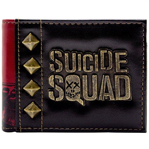 Suicide Squad Harley Quinn Badge d'or Noir Portefeuille
