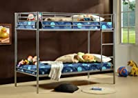 3ft Single Metal Bunk Bed - Twin Sleeper