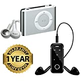 #8: Lambent i6S Clip Wireless Bluetooth Sport Stereo Earphone Headset With mini iPod Shuffle MP3 player For iPhone & Android