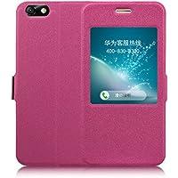 Prevoa ® 丨Flip S - View Cover Case Schutzhülle Tasche für Huawei Honor 4X 5.5 Zoll Smartphone - (Rosa)