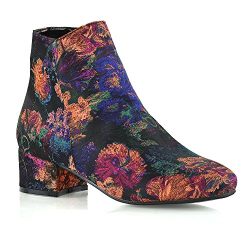 New Womens Smart Flat Heel Chelsea Ladies Shorty Pixie Zip Ankle Boots...