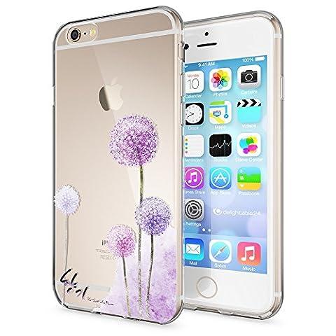 Apple iPhone 6 6S Hülle Handyhülle von NICA, Slim Silikon Case Cover Crystal Schutzhülle Dünn Durchsichtig, Etui Handy-Tasche Backcover Transparent Bumper für i-Phone 6 6S, Designs:Dandelion Pink