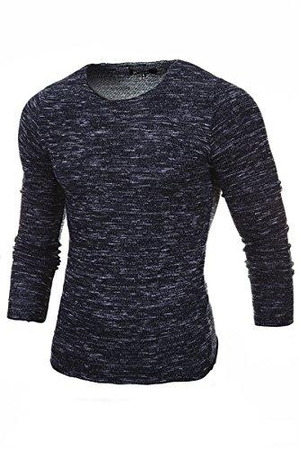 MERISH tricot pull, un col rond design moderne le pull parfait pour toutes les occasions Modell 306 Anthracite