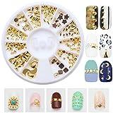 Joyeee 3D Pedrería para Uñas Decoración de Arte de Uñas Rueda de Diamantes Brillantes(Aleación)