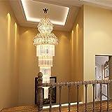 OOFAY LIGHT® Kronleuchter Moderne K9 Kristall Regentropfen Kronleuchter Beleuchtung Unterputz LED Deckenleuchte Pendelleuchte für Esszimmer Badezimmer Schlafzimmer Wohnzimmer Breite 60x Höhe 180 cm