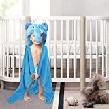 Kassy Pop Animal Hooded Baby Bath Towels Cum Blankets – Plush Organic Microfiber Fleece, Soft & Super Absorbing To Use As A Baby Bath Towels, Receiving Blankets, Swaddles And Baby Bathrobes, Perfect Baby Shower Gift, 30 X 40 Inches (0-2 Yrs)