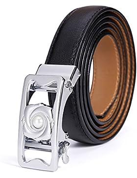 Correa Simple Automatizado Deducción/Joker Adornado Cinturones/Moda Cinturones Casuales-Negro 115cm(45inch)