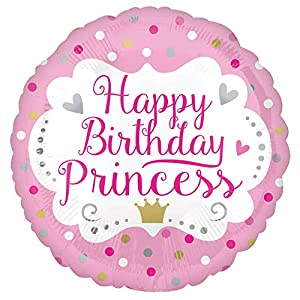 Amscan International- Globo, Color sd-c: happy birthday princess, Small (3566401)
