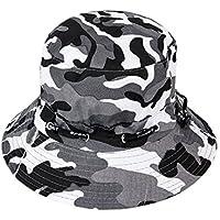 Westeng Sombrero de Pescador Camo Sombrero al Aire Libre Anti-UV para Hombre Mujer Ajustable size 56-58cm (Style 2)