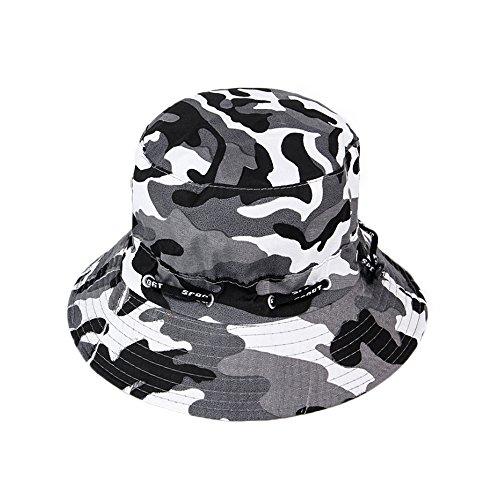 Westeng Outdoor Camouflage Hut Bob Fischerhut Baumwolle Sonnenhut Zusammenklappbar Anti-UV-Schutz für Mann Frau 56-58cm