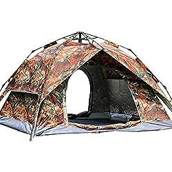 Tienda de campaña automática para Acampar al Aire Libre Tienda de Camuflaje para Acampar portátil, Amarilla_200 * 230 * 140cm