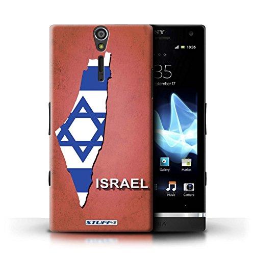 Kobalt® Imprimé Etui / Coque pour Sony Xperia S/LT26i / grande-Bretagne conception / Série Drapeau Pays Israël/Israélien