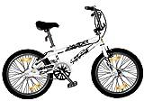 LA - Bicicleta Bmx de 26 cm, rueda de 20, color blanco