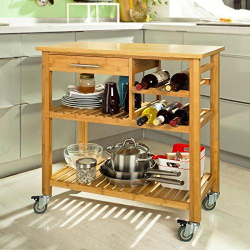SoBuy® Carrello di servizio, Carrelli per cucina ,mensola angolare ...