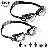 Best Water Goggles - [2-PACK] Swimming Goggles for Adult Men Women Junior Review
