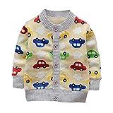 Brightup Baby Junge Fleece Jacke, Kleiner Junge Herbst Warm Mantel, Winter Strick Outwear