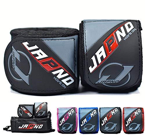 Japno Advanced Handbandagen, - Superior Qualität Hand Wraps für Combat Sports, MMA und Martial Arts ★ 5 Meter Gummizug Bandagen von