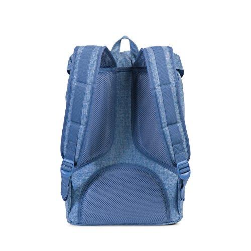 Imagen de herschel supply co. poco américa mid volume , limoges crosshatch/tan synthetic leather azul  10020 00918 os alternativa
