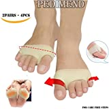 PEDIMEND Forefoot Metatarsal Pain Relief Absorber Cushion - Metatarsal Morton's Neuroma Pad - Hard Skin Sore Insole - Anti-Slip Ball of Foot Cushions - Ball of Foot Pad - Pain Relief for Men and Women - Big & Little Toe Overlap - Hallux Valgus Care - Shaping Forefoot - Nursing Transverse Arch - Elasticated Foot Sleeve - Breathe Freely and Absorb Sweat – Foot Care (TWO PAIR)