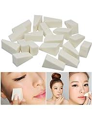 TRIXES 20 Éponges Compressés de Maquillage pour Mélange de Fond de Teint de Beauté Professionnel et D'art des Ongles