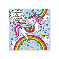 Rachel Ellen Designs - Unicorns & Rainbows Square Colouring Book