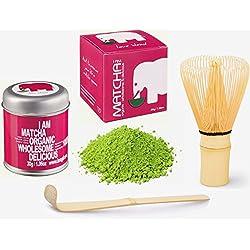 *SOMMERAKTION* 30g Original BIO & VEGAN Matcha Starter Set - Markenprodukt von imogti - DLG Prämiert 2016 - (30g original Bio Matcha + Original Matcha Bambusbesen + Matcha Löffel geschenkt)